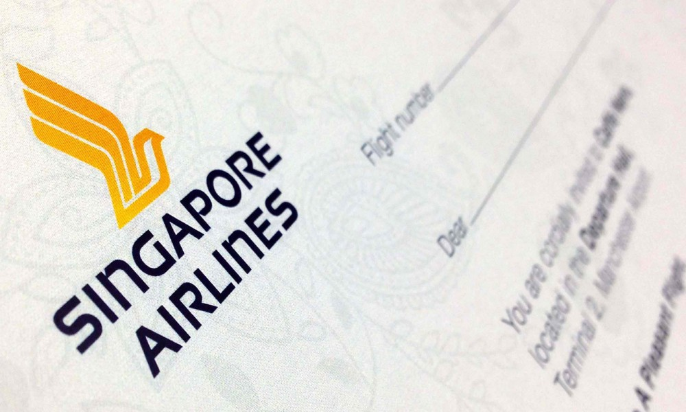 Singapore Airlines Invitation